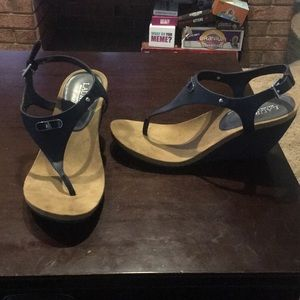 Navy Ralph Lauren Wedges size 9